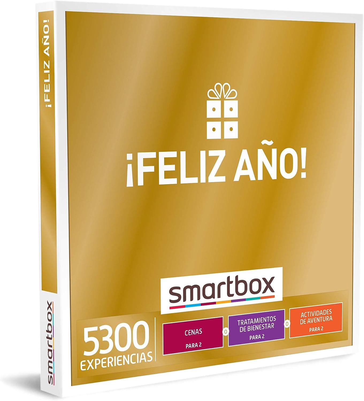 SMARTBOX - Caja Regalo hombre mujer pareja idea de regalo - ¡Feliz año! - 5300 experiencias como masajes, cenas, spas, kayak, paintball y rutas a caballo: Amazon.es: Deportes y aire libre
