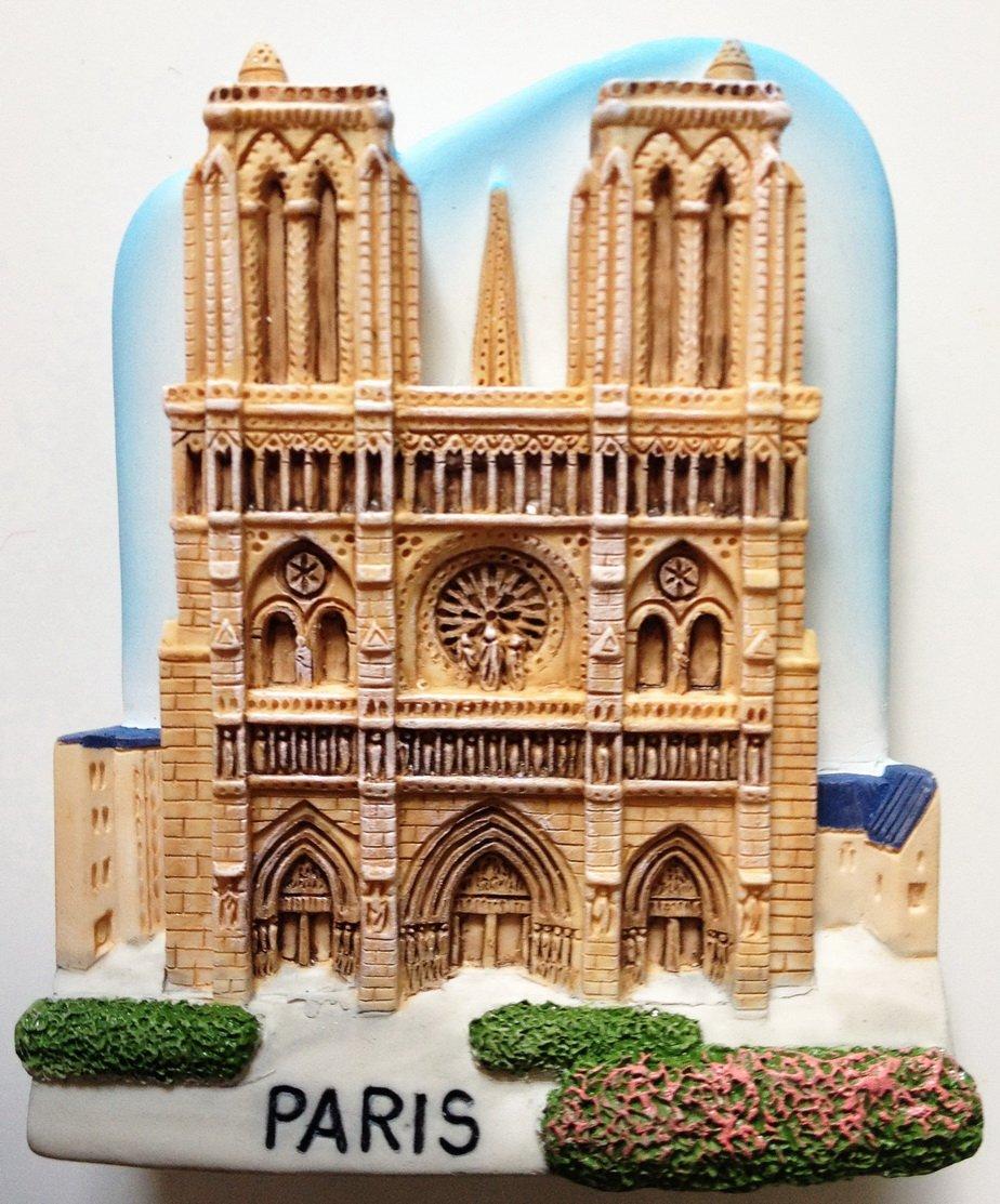 by Thai MCnets Notre Dame of Paris Resin 3D fridge Refrigerator Thai Magnet Hand Made Craft