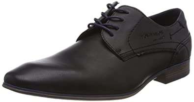 Herren 4880104 Derbys, Schwarz (Black), 41 EU Tom Tailor