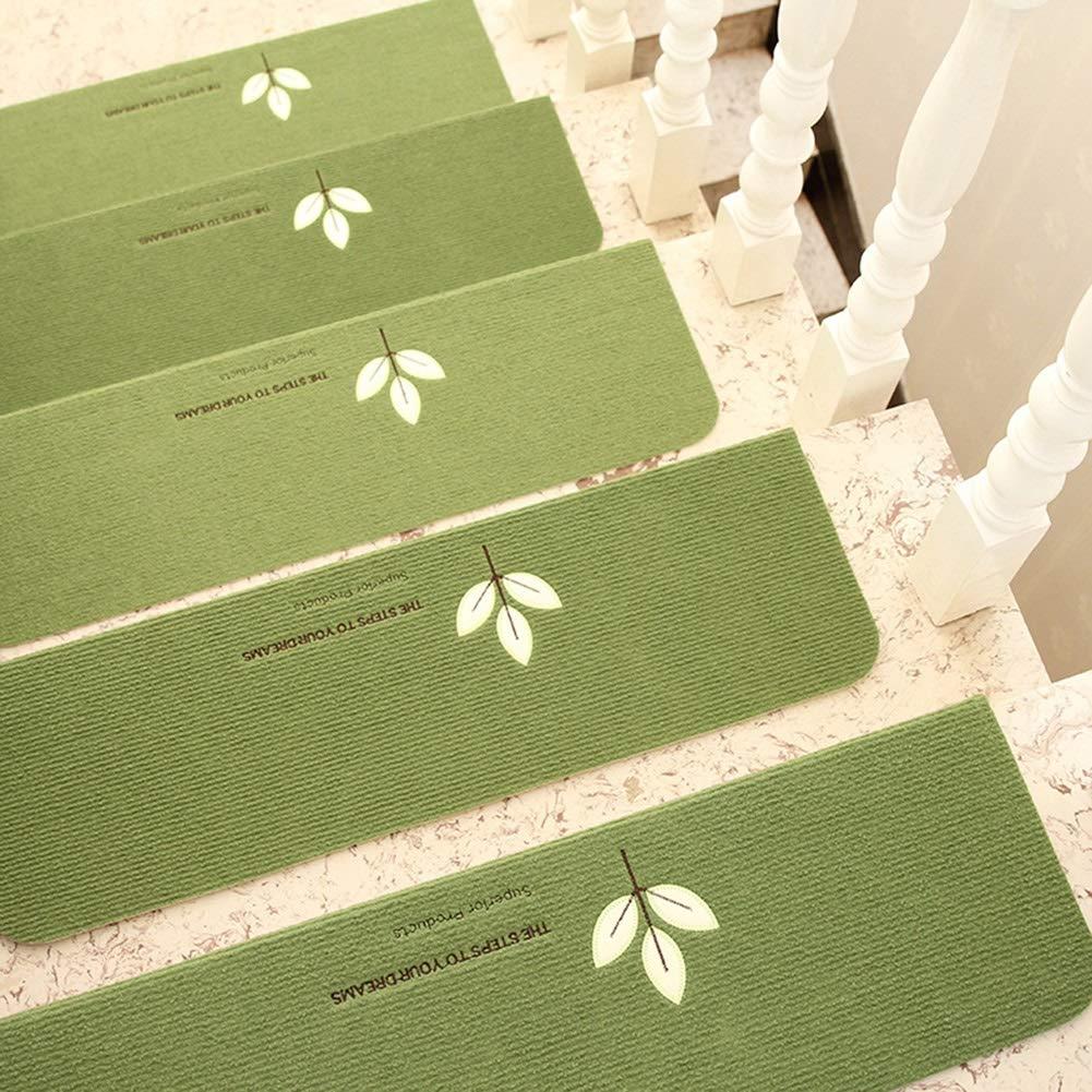 Tappeto Antiscivolo Autoadesivo Non Incollato Colore : Set of 20, Dimensioni : 70x21x4.5cm Tappeto delle scale In Legno Massello per Uso Domestico Tappetino per Tappeti Luminosi Verde