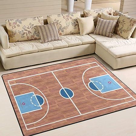 Mnsruu Alfombra de Baloncesto Vintage para Sala de Estar o ...