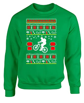 Image Unavailable. Image not available for. Color  BadAss Attire Gifts for Cyclists  Ugly Christmas Cycling Sweater Style - Adult Sweatshirt 07b981fd1