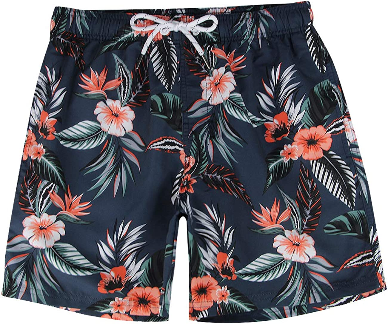 Coral, Medium MILANKERR Mens Swim Trunks Quick Dry Beach Shorts with Pockets 34-36