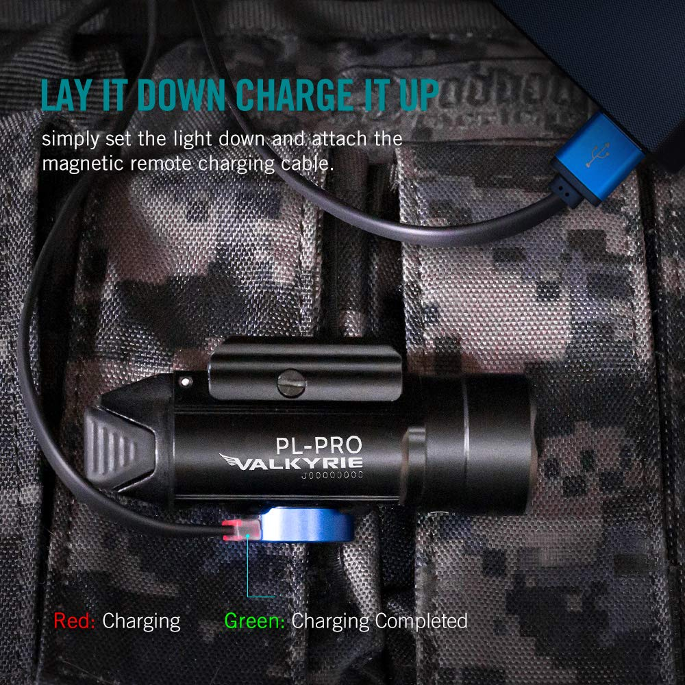 OLIGHT PL-Pro Valkyrie 1500 Lumens Cree XHP 35 HI NW Rechargeable Weaponlight Rail Mount Tactical Flashlight with Strobe (Black) by OLIGHT (Image #3)