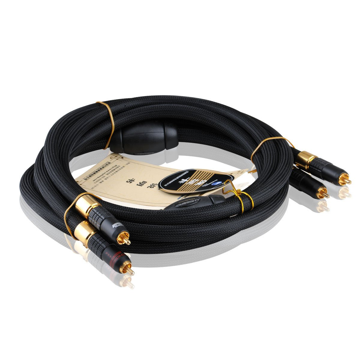 Choseal AA-5401 Hi Fi OCC 6N Single Crystal Copper AV Cable 2RCA to 2RCA Audio Cable For Amplifier Home Theater