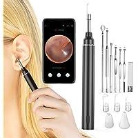 VITCOCO Otoskop WiFi iPhone öronvax borttagning verktyg med kamera, trådlöst USB-öra rengöring endoskop med 6 LED-lampor…