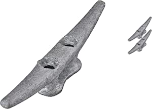 QPuro Dock Cleat 6 Inch - Hot Dipped Galvanized Cast Iron Boat Cleats, Rope Cleat, Boat Dock Cleats - (2, 5, 10 Pack) - Ideal for Marine, Deck, Nautical Decor