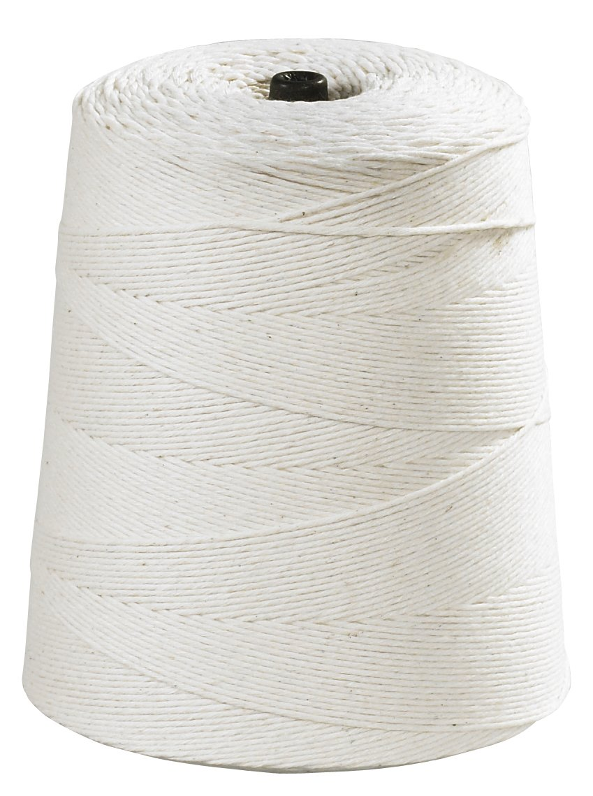 Aviditi TWC630 Light Duty Cotton Twine, 8 Ply, 6300' Length, White