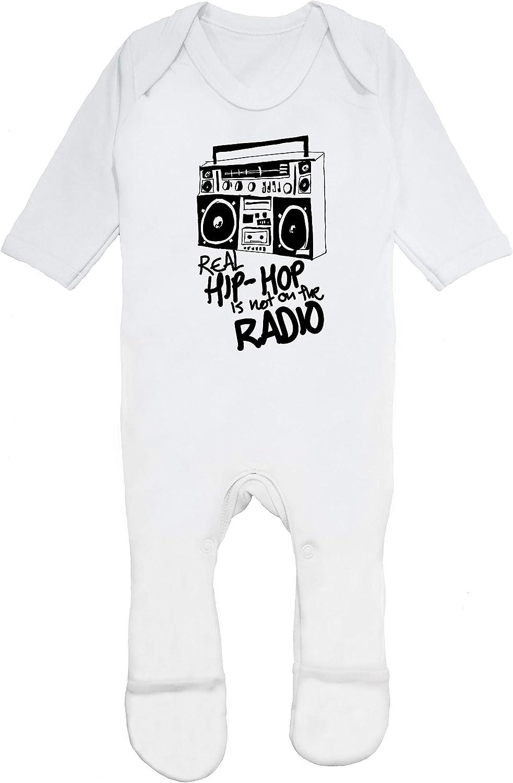 HippoWarehouse Real Hip Hop is Not on The Radio Traje Todo-en-uno beb/é algod/ón Unisex