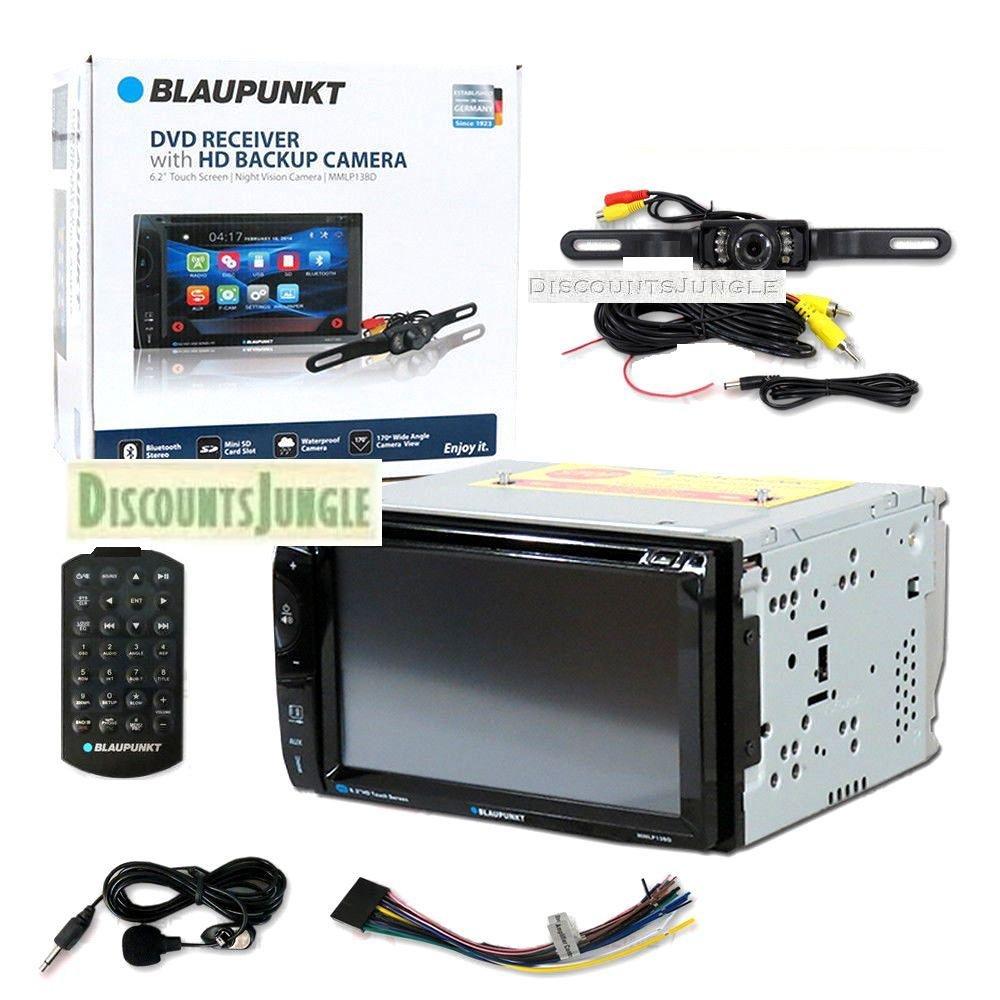 Amazon.com: BLAUPUNKT MMLP13BD Car Audio Double DIn 2DIN 6.2 Touchscreen  DVD MP3 CD stereo Bluetooth with HD Backup Camera (BLAUPUNKT MMLP13BD  Double DIn ...