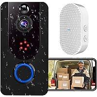 Video Doorbell, Bextgoo Deurbel Camera, 1080P Heldere Foto's, PIR-bewegingsdetectie, Wi-Fi Video Deurbel Met Gratis…