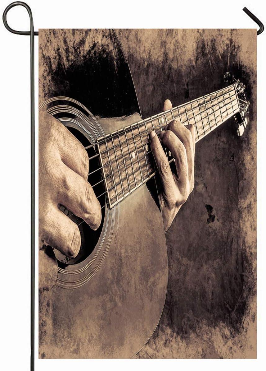 Acoustic Guitar Strings Garden Yard Flag