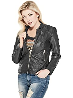 G by GUESS Harlin Pleated Faux-Leather Jacket