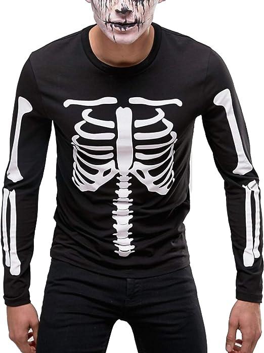 Halloween Kostuem Skelett Amazon.Skelett Kostum Halloween Skelett T Shirt Herren Skelett Shirt Halloween Kostum Langarmeliges Schwarzes T Shirt Amazon De Bekleidung