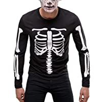 Halloween Costume Skeleton T Shirt ARMS and Body Long Sleeve T Shirt