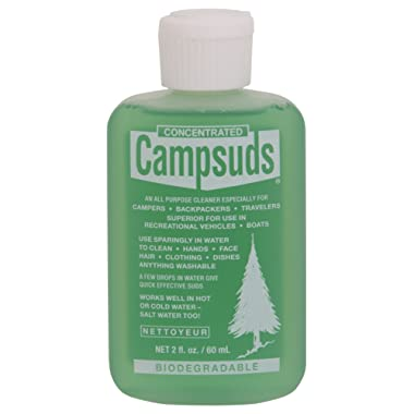 Sierra Dawn Campsuds Outdoor Soap Biodegradable Environmentally Safe All Purpose Cleaner, Camping Hiking Backpacking Travel Camp, Multipurpose for Dishes Shower Hand Shampoo