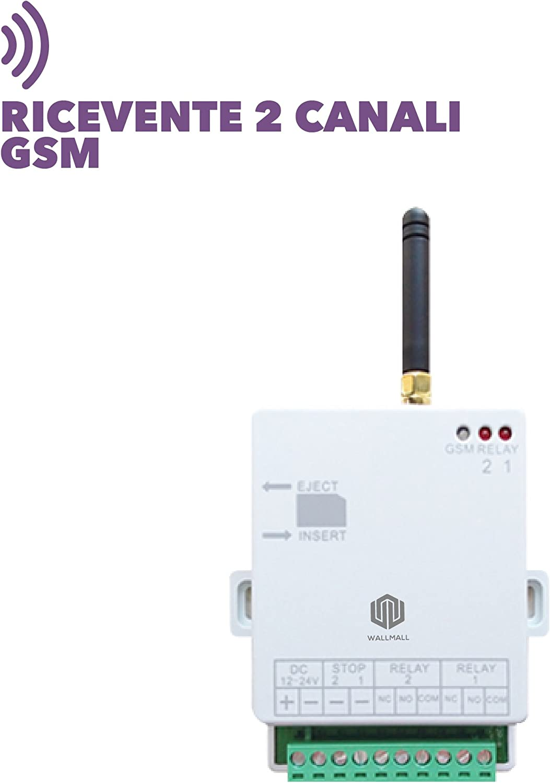 Receptor 2 Canales gsm Puerta Caldera Luces Control Remoto Android iPhone