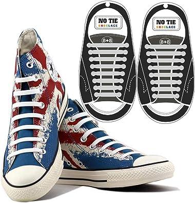 Cordones elásticos para Zapatos sin Atar, Ideales para Adultos y niños, para Correr, Escalar, duraderos para Zapatillas y Botas, Color Blanco: Amazon.es: Deportes y aire libre