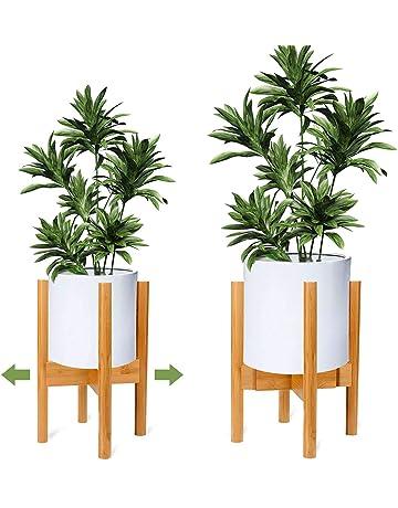 75de61b1b4b1 OGIMA Adjustable Plant Stand Plant Holder Mid Century Wood Modern Flower  Potted Holder Rack for Indoor