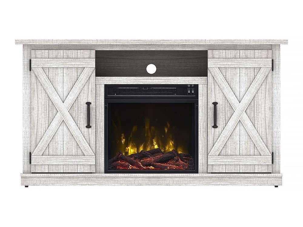 Comfort Smart Killian Electric Fireplace TV Stand, Sargent Oak by Comfort Smart