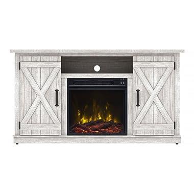 Comfort Smart Killian Electric Fireplace TV Stand, Sargent Oak