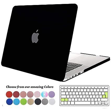 tout neuf 7df58 221dd TECOOL Coque MacBook Pro 15 Pouces Retina, [Ultra Mince Série] Plastique  Mate Rigide Étui avec Housse de Clavier en Silicone pour MacBook Pro 15.4  ...