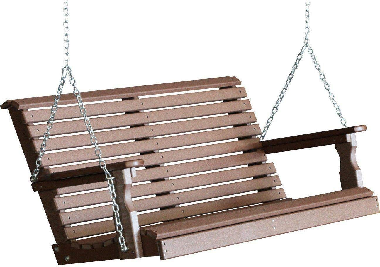 LuxCraft Rollback 4ft Recycled Plastic Porch Swing