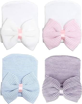CBOO Gorros Bebé Sombrero Turbante para Bebé Recien Nacido Niña Infantil, Recién Nacido Sombrero Bowknot Cabeza Accesorio Pelo niña
