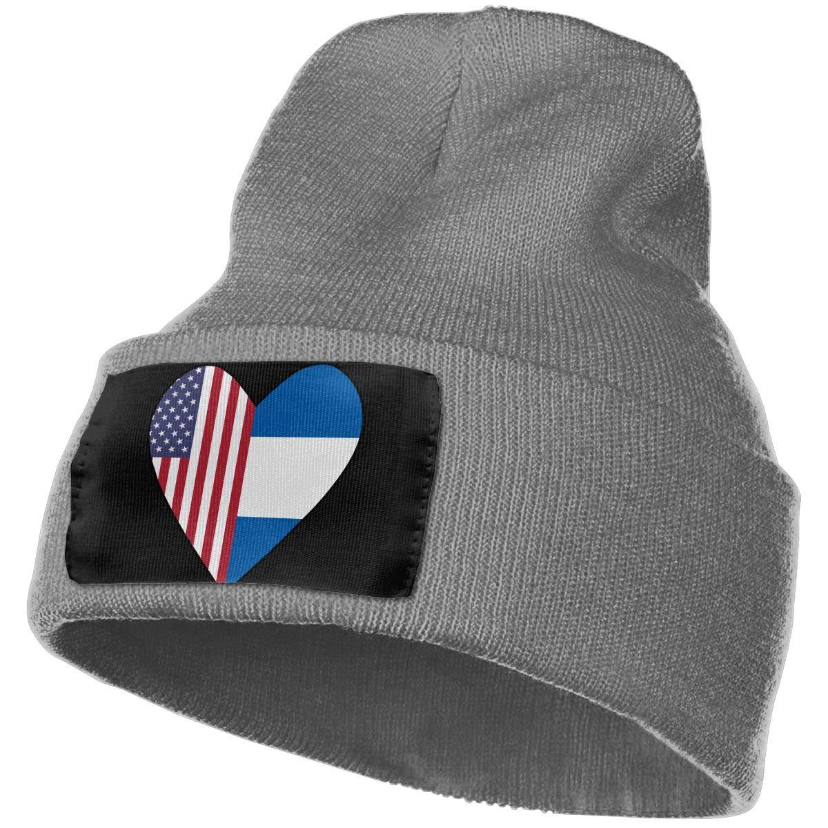 Half El Salvador Flag Half USA Flag Love Heart Men /& Women Knit Hats Stretchy /& Soft Ski Cap Beanie
