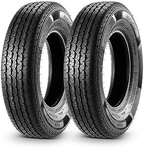 Set of 2 Trailer Tire 175/80R13 175 80R13 8 Ply Load Range D Radial Heavy Duty 97/93L