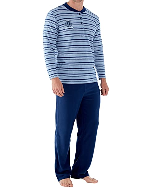 Harvey James - Pijama - para Hombre Azul Azul (Stripe) Large