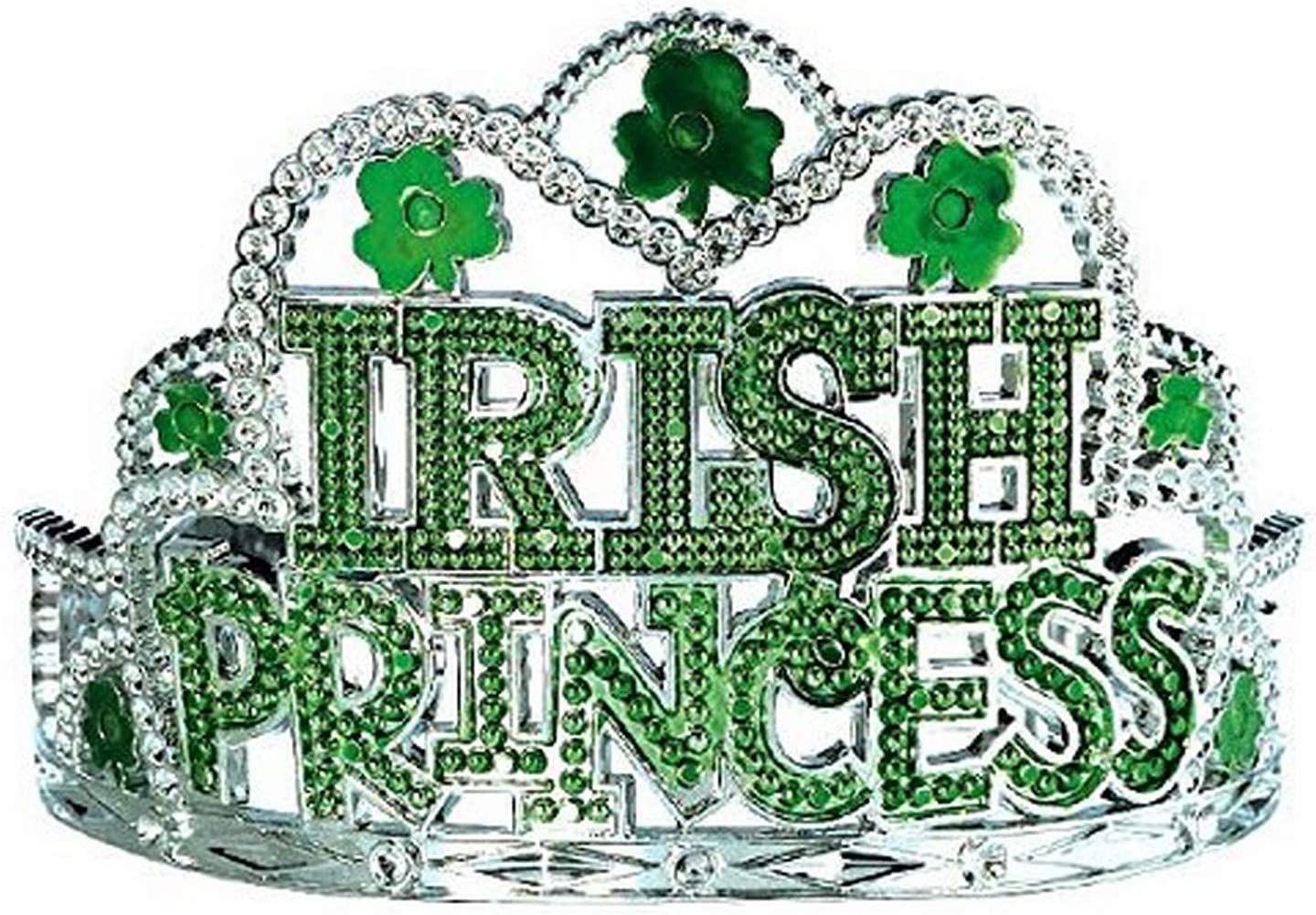 St Patrick/'s Day Clover Tiara Crown Wand Party Princess Girl Accessory Costume