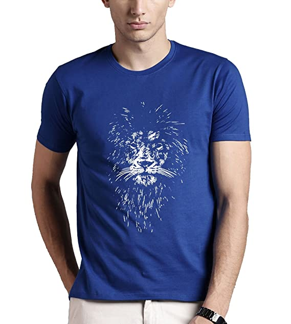 d6d67c12a ADRO Men s Lion Printed Cotton T-Shirt  Amazon.in  Clothing ...