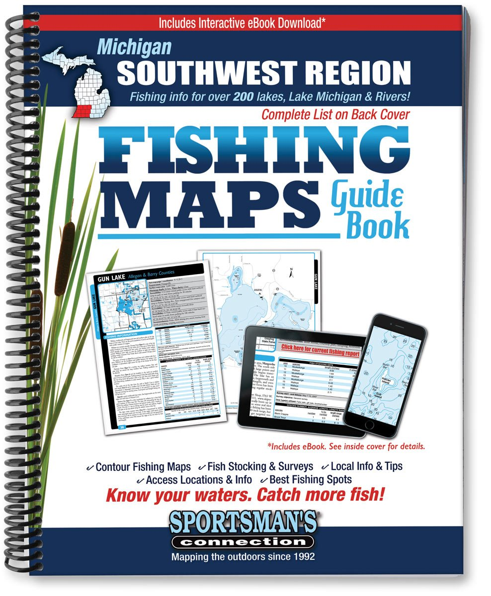 Southwest Michigan Fishing Map Guide Sportsmans Connection - Map of southwest michigan
