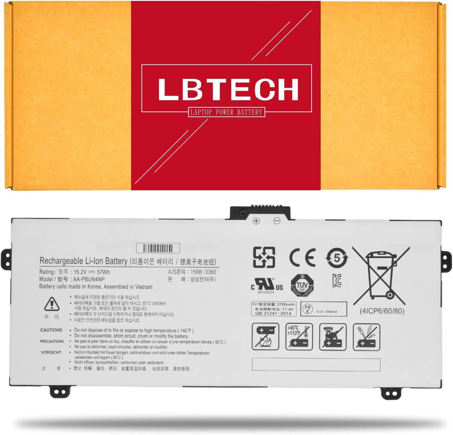 LBTECH AA-PBUN4NP Compatible Laptop Battery Replacement for Samsung NP940Z5L NP940Z5L-X01US Series BA43-00374A 4ICP6/60/80 15.2V 57Wh