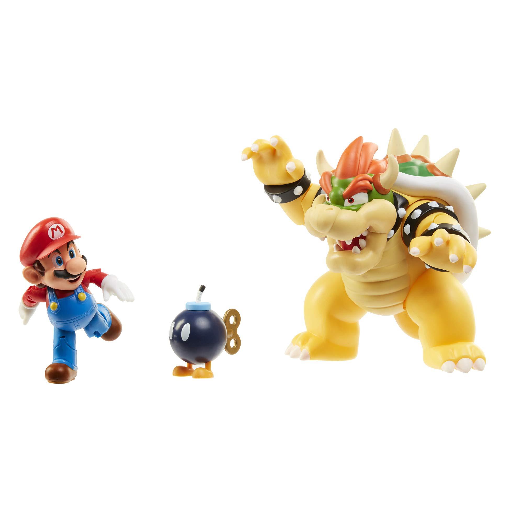 Nintendo Super Mario Bowser Vs Mario Diorama Figure 3 Pack by Nintendo (Image #3)