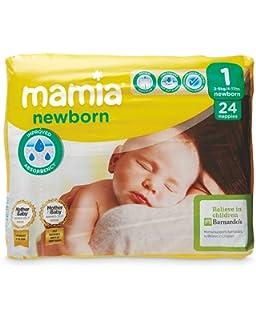ALDI Mamia - Pañales para recién nacidos (talla 2, 3-6 kg, 44 ...