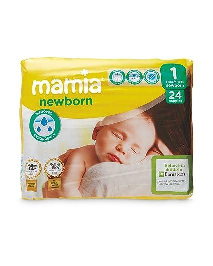 Brand ALDI Mamia - Pañales para Recién Nacido, Talla 1: Amazon.es: Bebé