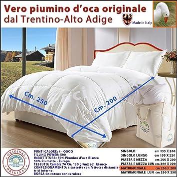 Piumino D Oca Matrimoniale Trentino.Vero Piumino D Oca Originale Del Trentino Alto Adige Daunex Matrimoniale 250x200