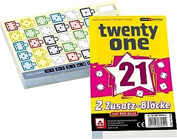 NSV - 4047 - Twenty One - Bloques de substitución - Juego de Dados: Amazon.es: Juguetes y juegos