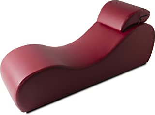 product image for Liberator Esse Chaise Sensual Sex Lounge, Faux Leather Claret