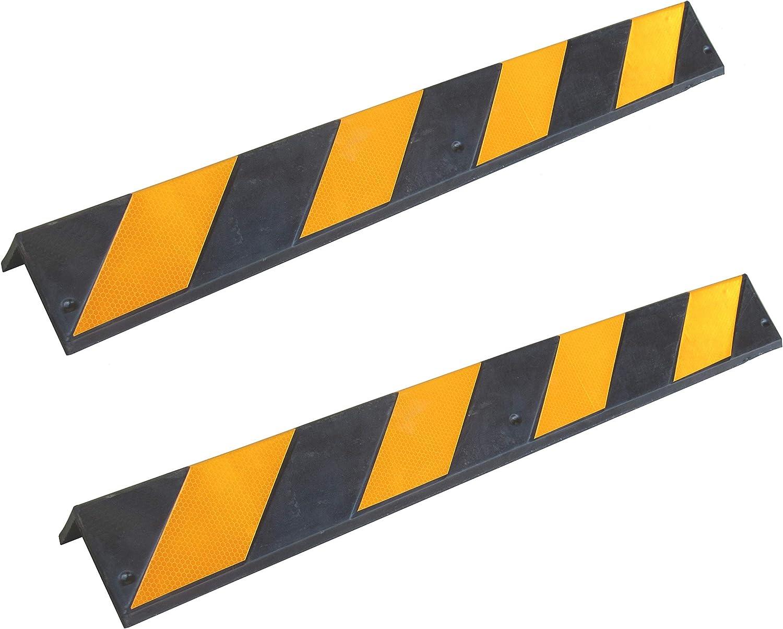 Sns Safety Ltd Rcg 131x2 Gummieckenschützer 8 Mm Dicke Für Parkplätze Und Lagerhallen Farbe Schwarz Und Gelb Maße 80 X 10 X 10 Cm 2 Stück Auto