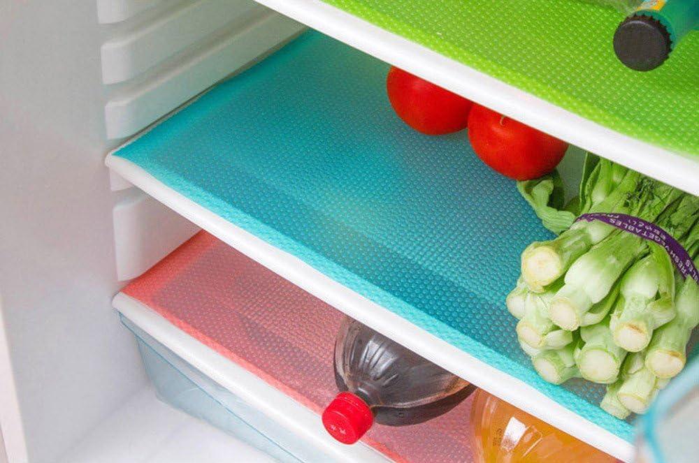 Antibacterial Refrigerator Pad Antifouling Refrigerator Drawers Mats Non Slip Fridge Mat for Kitchen Cabinet Refrigerator Cupboard liners ObestChoose Fridge Liners