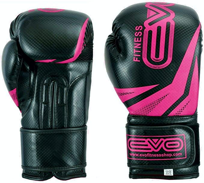 Evo Fitness Femmes Rose GEL Rex Cuir Gants De Boxe Sac De Frappe MMA Muay Thai Arts Martiaux Kick Boxing
