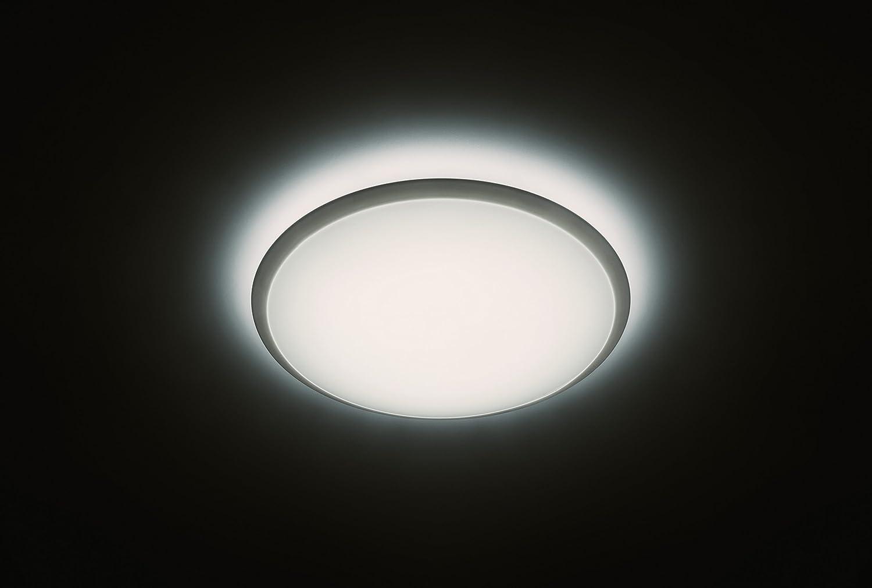 material sint/ético y tres ajustes de luzde luz blanca a blanca c/álida funciona con interruptor existente Philips Plaf/ón blanco con LED integrado y garant/ía de 5 a/ños
