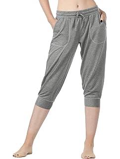NAVISKIN Damen 3//4 Jogginghose UPF50 Laufhose atmungsaktiv Trainingshose Sonnenschutz Wanderhose Ultraleicht Sporthose