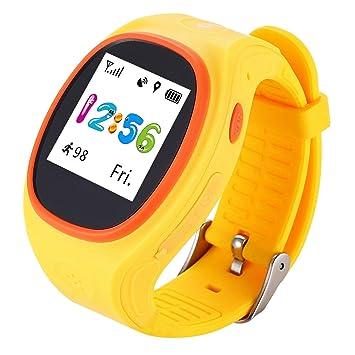 NiñOs Relojes Inteligentes Con Ranura Para Tarjeta SIM GPS Tracker TeléFono Llamadas De Voz SOS Para