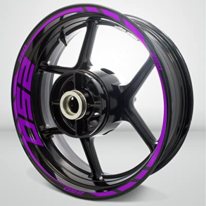 Purple Mate Motocicleta Moto Llanta Decal Accesorio ...