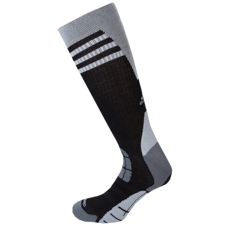 Black-White adidas Mens Climalite Half-Cushioned Footbal Sock