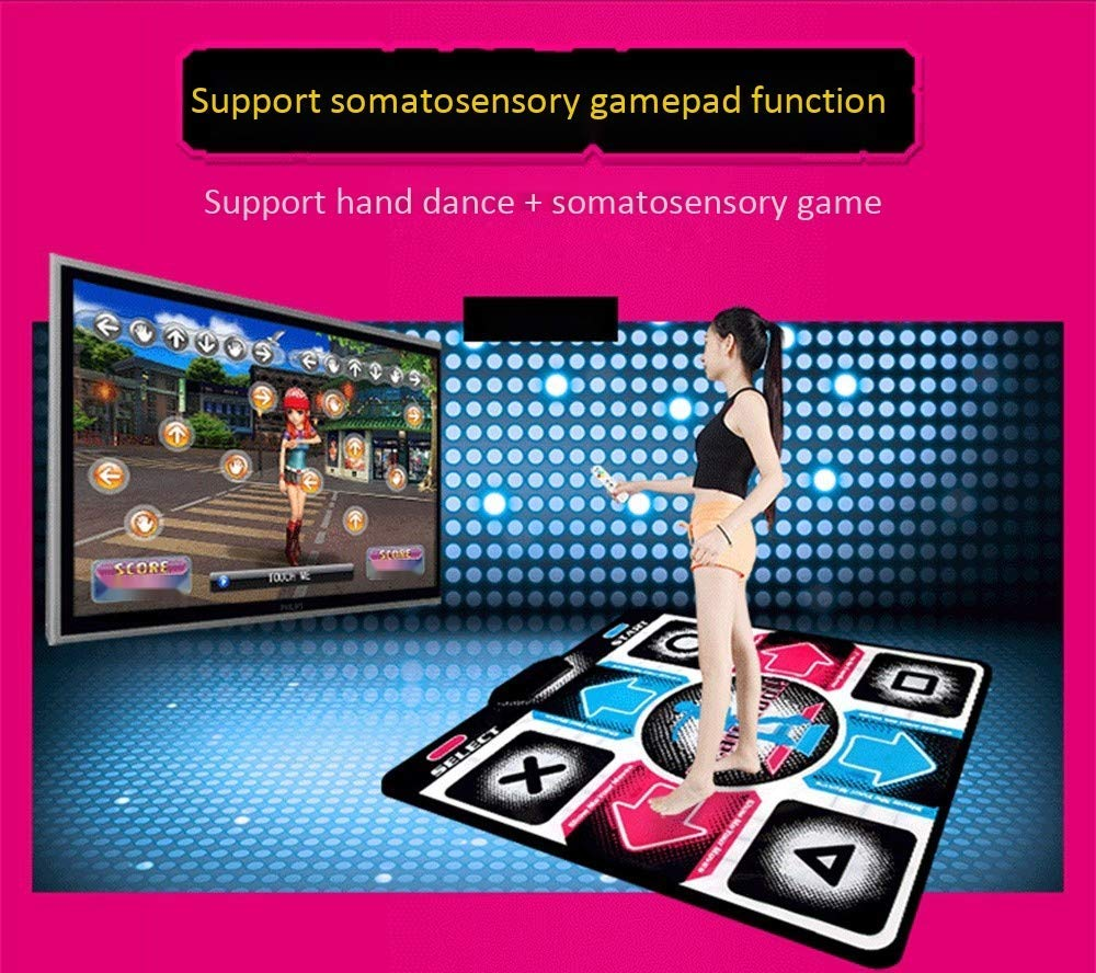 RYSD-MT Single Dance Mat Cordless LED Glow Play Mat Foldable Non-Slip TV Computer Dual-use Somatosensory Dance Mats for Adults Children(English Version) by RYSD-MT (Image #2)